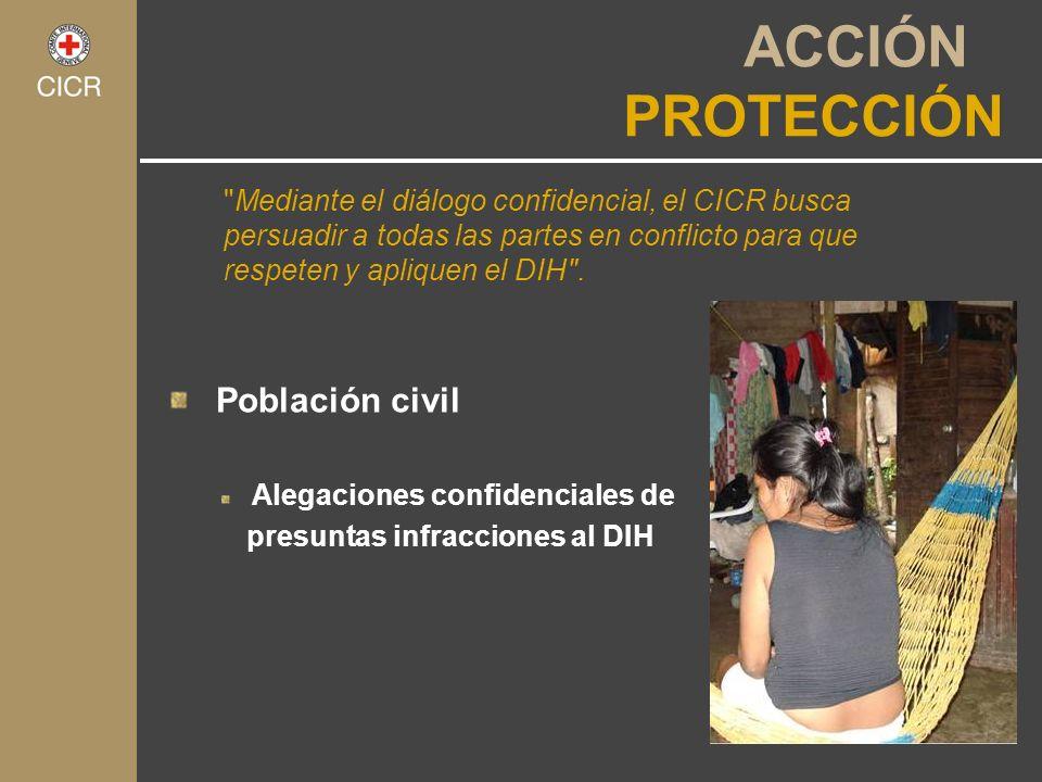 ACCIÓN PROTECCIÓN Población civil Alegaciones confidenciales de presuntas infracciones al DIH