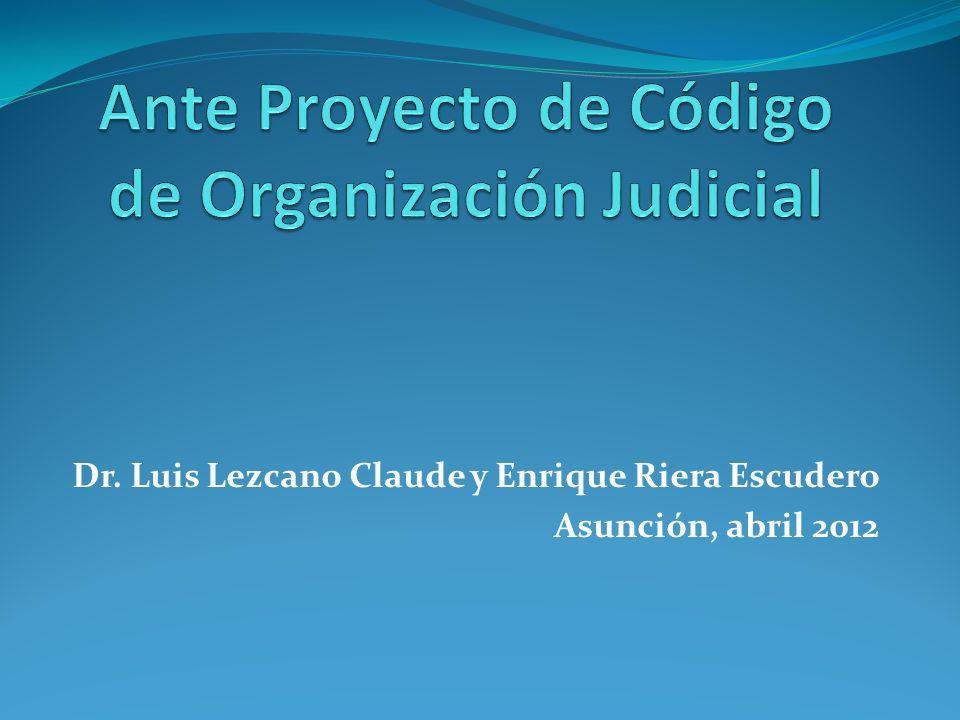 Dr. Luis Lezcano Claude y Enrique Riera Escudero Asunción, abril 2012
