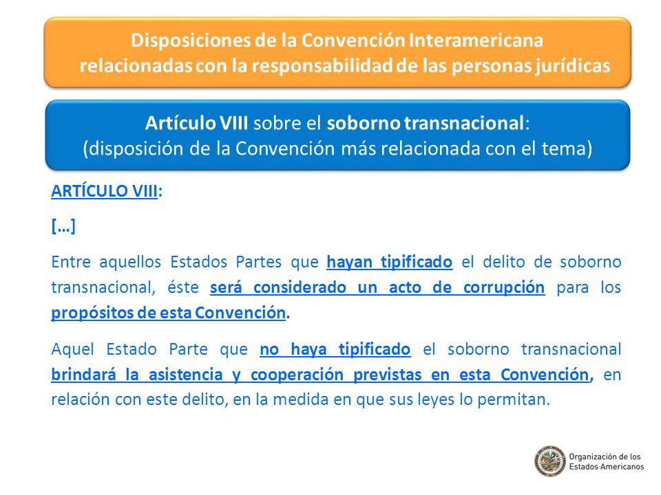 Tipificación del soborno transnacional en el ordenamiento jurídico interno.