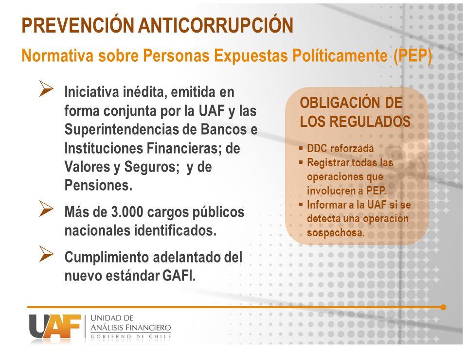 Iniciativa inédita, emitida en forma conjunta por la UAF y las Superintendencias de Bancos e Instituciones Financieras; de Valores y Seguros; y de Pen