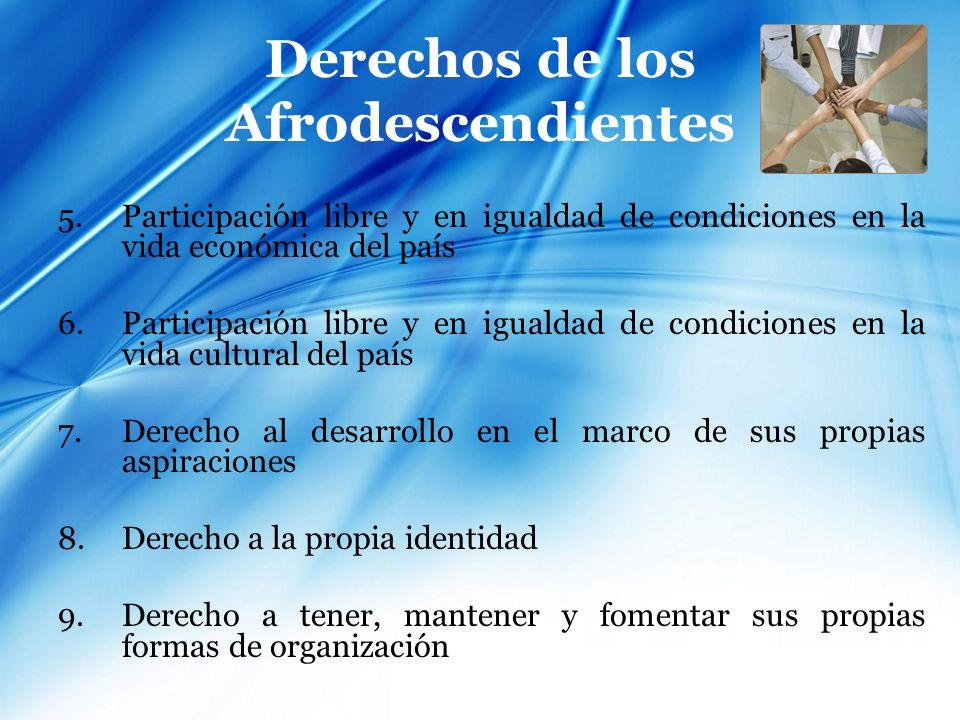 Género Acceso de las mujeres afrodescendientes a los recursos de producción en condiciones de igualdad Jóvenes varones de origen africano