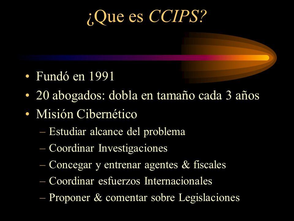 Temas The Computer Crime & Intellectual Property Section (CCIPS) 3 Categorias de Delitos Cibernéticos El Alcance del Problema Soluciones Internacionales