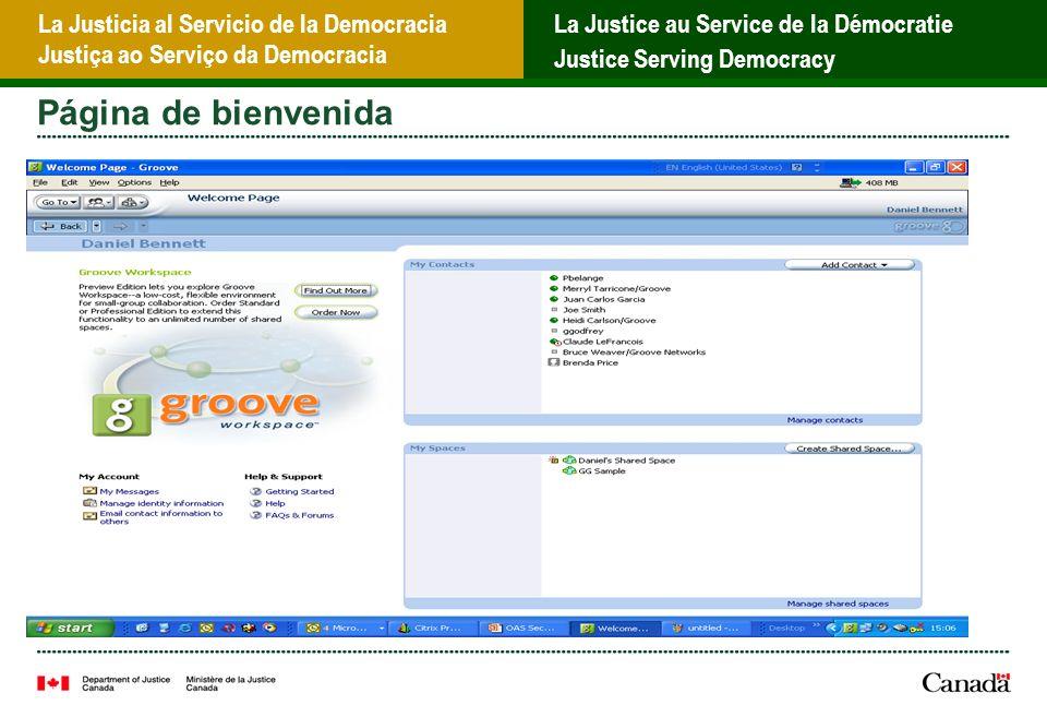 La Justicia al Servicio de la Democracia Justiça ao Serviço da Democracia La Justice au Service de la Démocratie Justice Serving Democracy Página de bienvenida