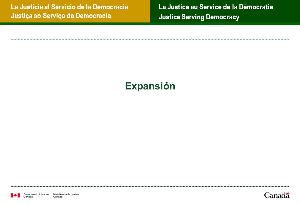 La Justicia al Servicio de la Democracia Justiça ao Serviço da Democracia La Justice au Service de la Démocratie Justice Serving Democracy Expansión