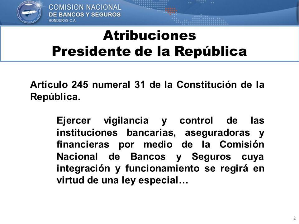 2 Atribuciones Presidente de la República MARCO INTERNACIONAL Artículo 245 numeral 31 de la Constitución de la República. Ejercer vigilancia y control