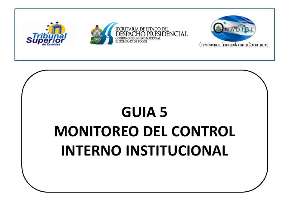 GUIA 5 MONITOREO DEL CONTROL INTERNO INSTITUCIONAL