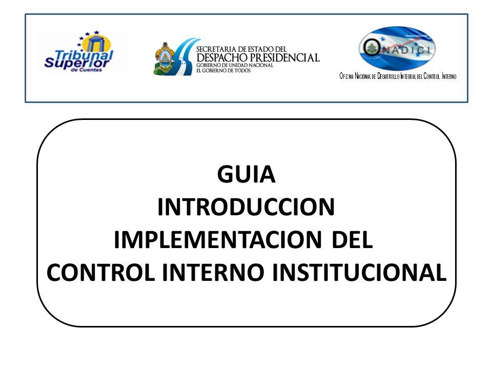 GUIA INTRODUCCION IMPLEMENTACION DEL CONTROL INTERNO INSTITUCIONAL