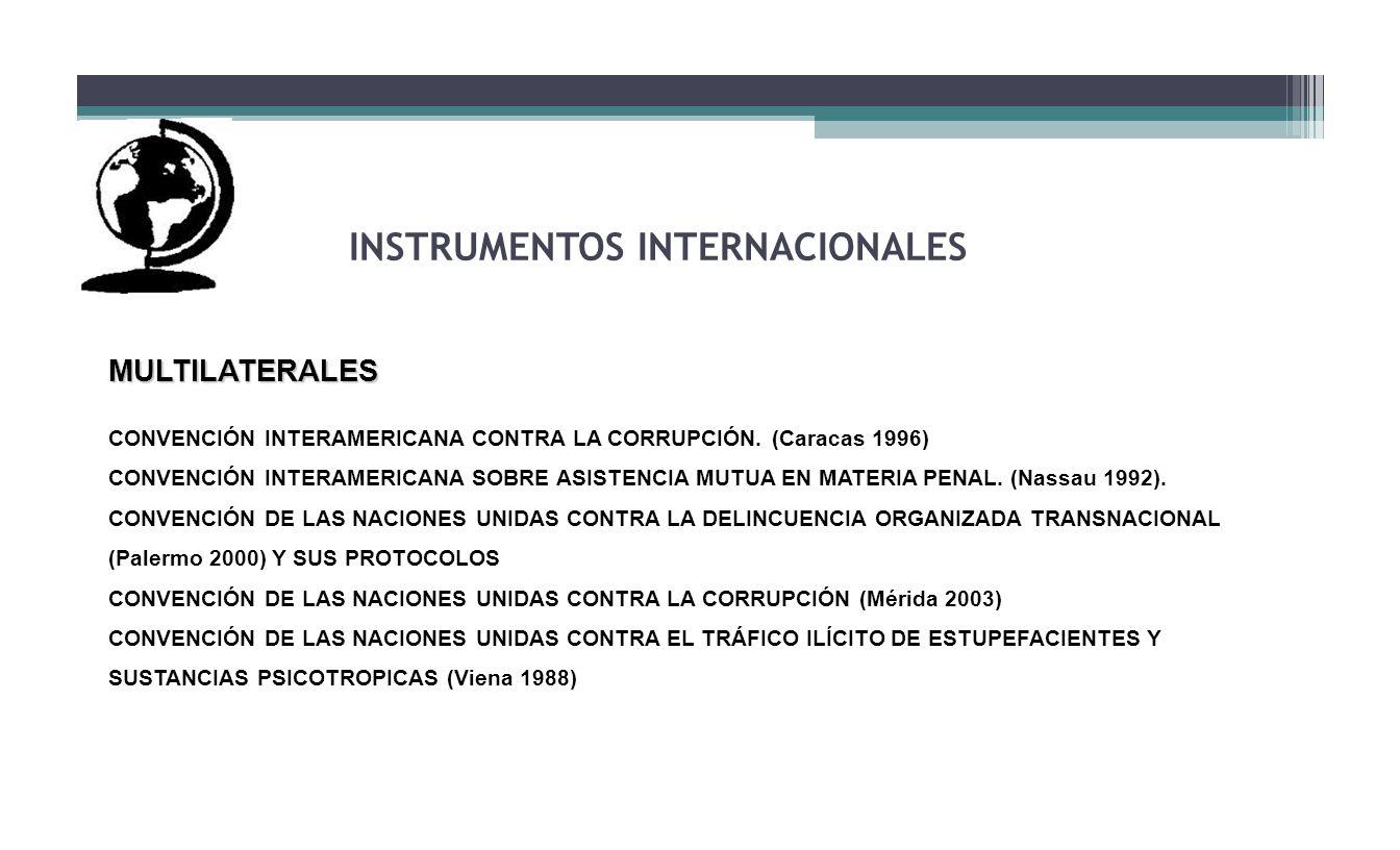 INSTRUMENTOS INTERNACIONALES MULTILATERALES CONVENCIÓN INTERAMERICANA CONTRA LA CORRUPCIÓN. (Caracas 1996) CONVENCIÓN INTERAMERICANA SOBRE ASISTENCIA