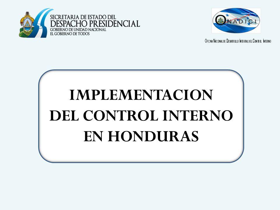 IMPLEMENTACION DEL CONTROL INTERNO EN HONDURAS