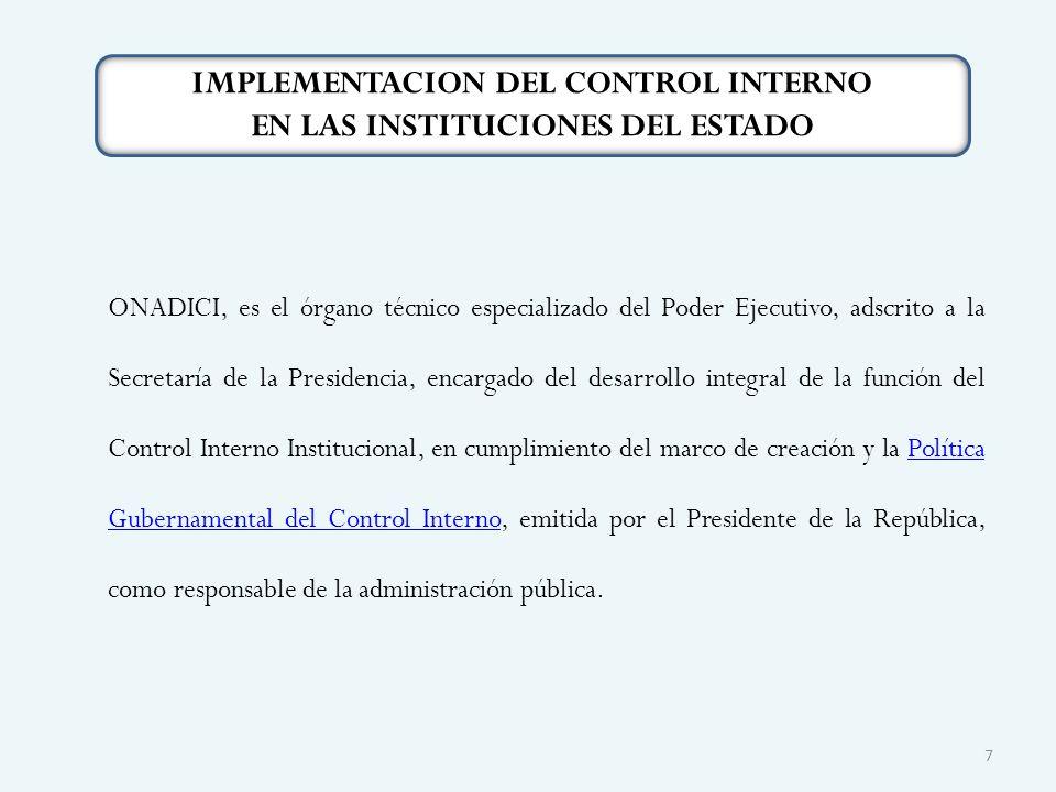 ONADICI, es el órgano técnico especializado del Poder Ejecutivo, adscrito a la Secretaría de la Presidencia, encargado del desarrollo integral de la f