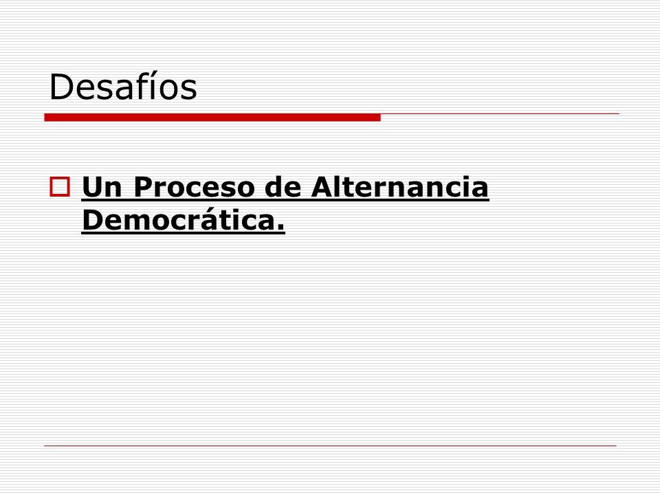 Desafíos Un Proceso de Alternancia Democrática.