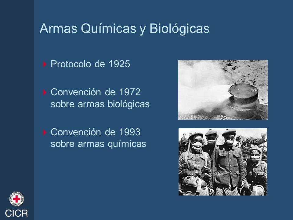 Armas Químicas y Biológicas Protocolo de 1925 Convención de 1972 sobre armas biológicas Convención de 1993 sobre armas químicas