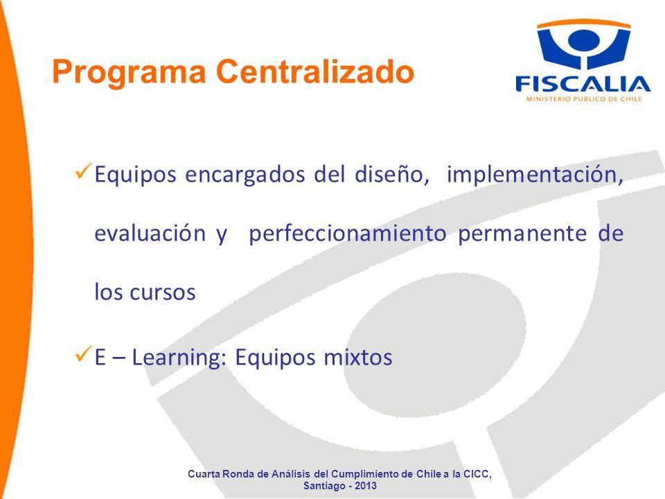 Programa Centralizado Equipos encargados del diseño, implementación, evaluación y perfeccionamiento permanente de los cursos E – Learning: Equipos mix