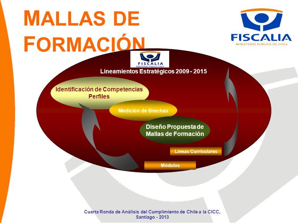 M ALLAS DE F ORMACIÓN Lineamientos Estratégicos 2009 - 2015 Identificación de Competencias Perfiles Medición de Brechas Diseño Propuesta de Mallas de
