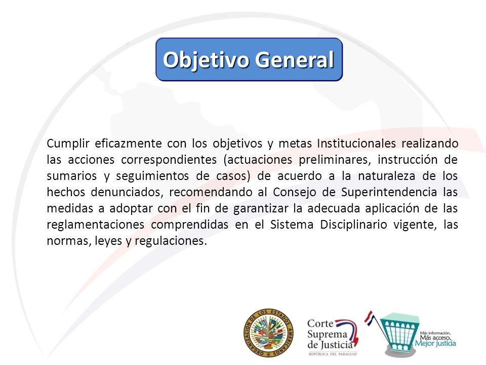 Objetivo General Objetivo General Cumplir eficazmente con los objetivos y metas Institucionales realizando las acciones correspondientes (actuaciones