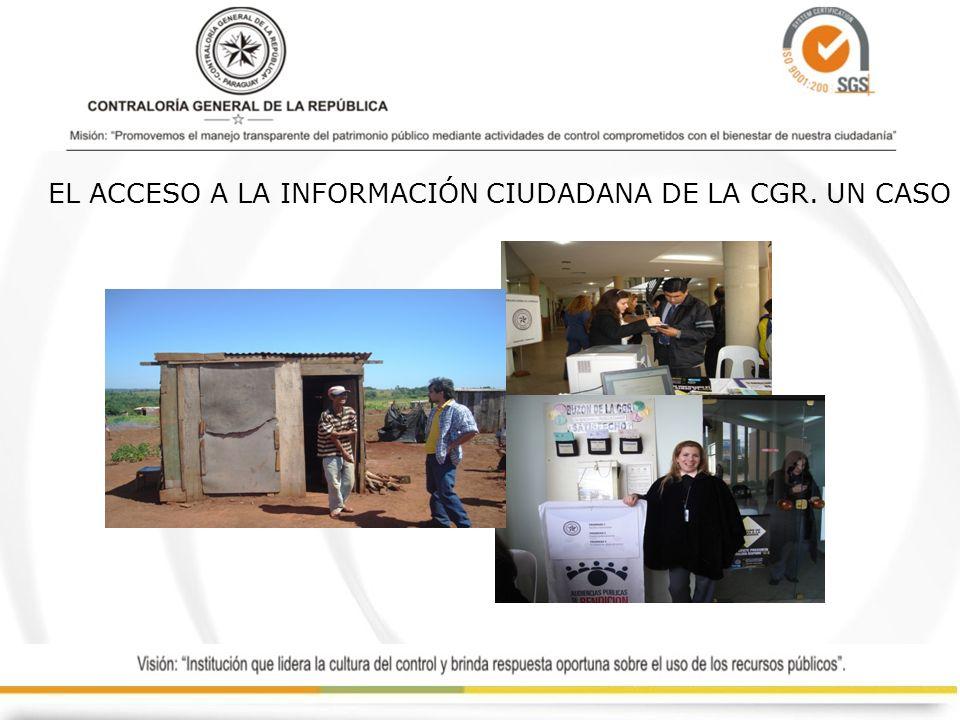 EL ACCESO A LA INFORMACIÓN CIUDADANA DE LA CGR. UN CASO