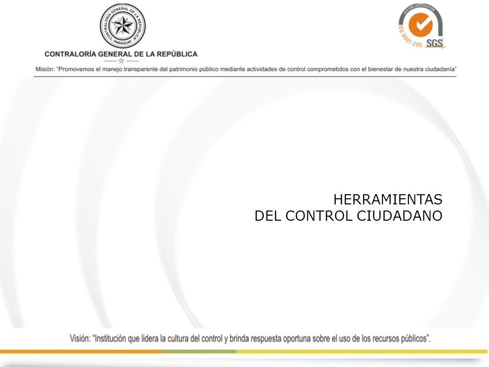 HERRAMIENTAS DEL CONTROL CIUDADANO