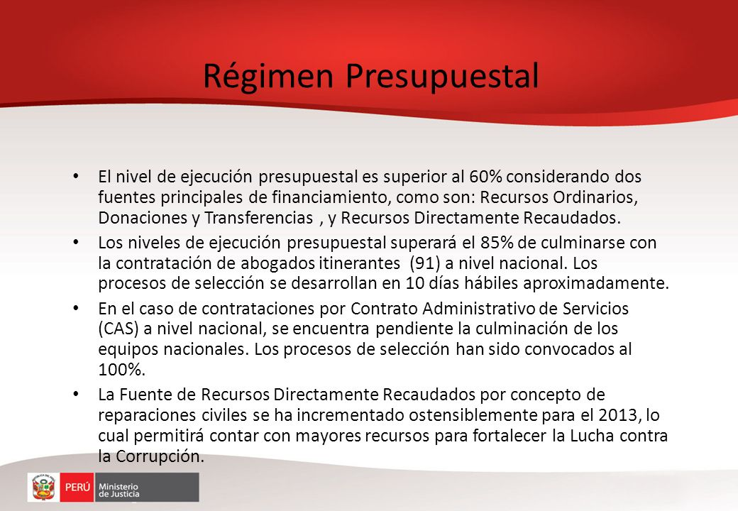 En cumplimiento de las normas de control interno, la Procuraduría remite oportunamente reportes de las Procuradurías Descentralizadas relativos a sus niveles de gasto y recaudación.