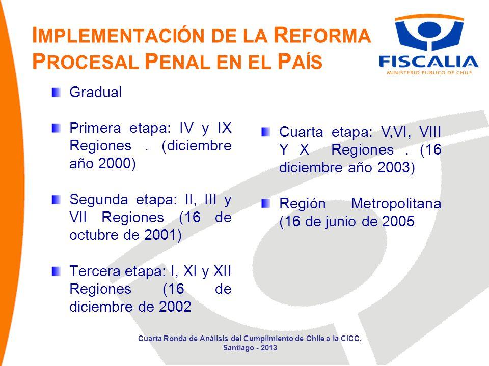Gradual Primera etapa: IV y IX Regiones.