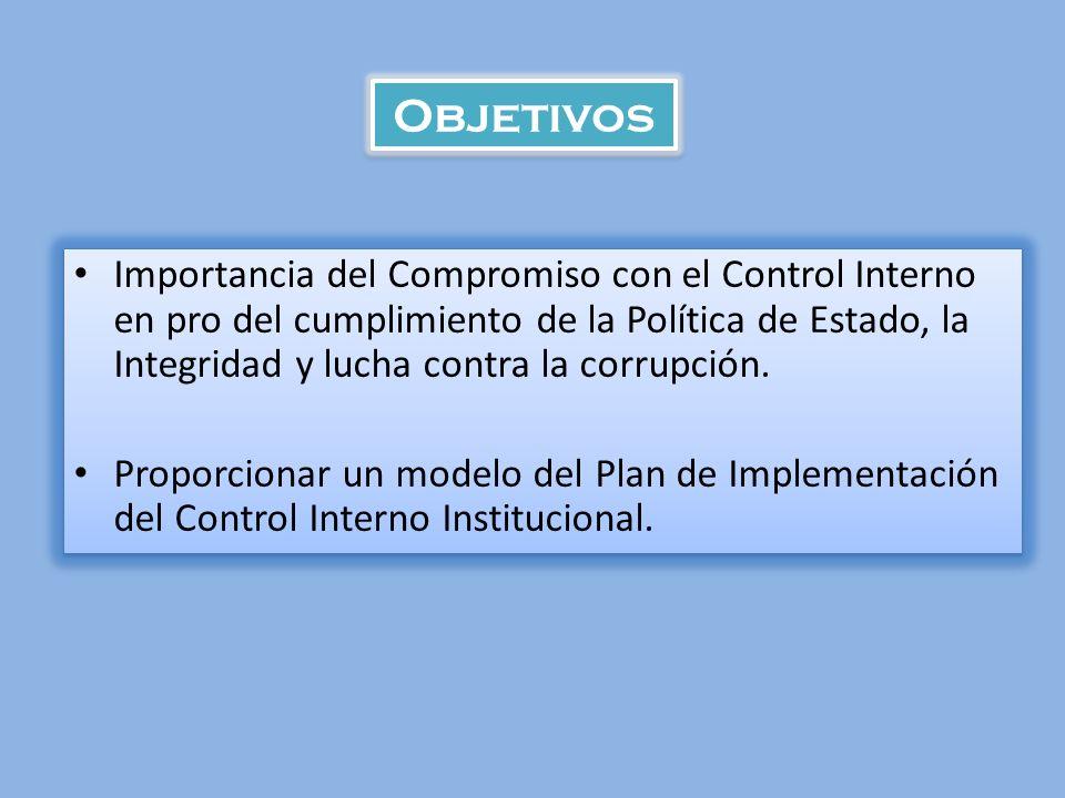MODELO DEL PLAN DE IMPLEMENTACION DEL CONTROL INTERNO MODELO DEL PLAN DE IMPLEMENTACION DEL CONTROL INTERNO