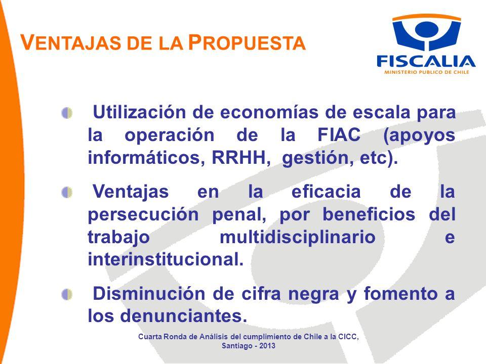 V ENTAJAS DE LA P ROPUESTA Utilización de economías de escala para la operación de la FIAC (apoyos informáticos, RRHH, gestión, etc).