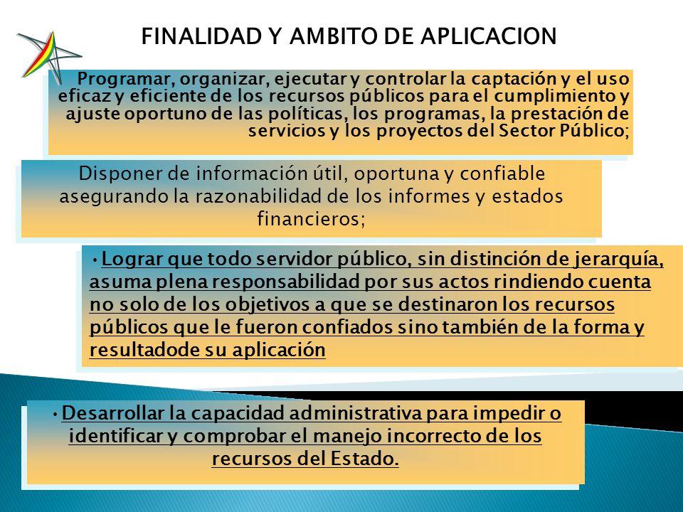Expresa un modelo de administración para el manejo de los recursos del Estado Establece sistemas de administración que se interrelacionan entre si y c