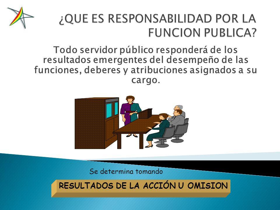 RESPONSABILIDAD POR LA FUNCION PUBLICA