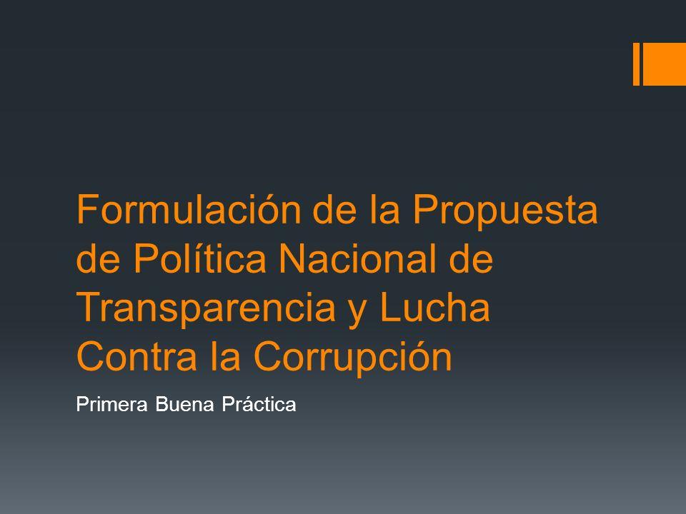 Plan de Trabajo MESICIC (Mecanismo de seguimiento de la implementación de la convención Interamericana contra la Corrupción) Segunda Buena Práctica
