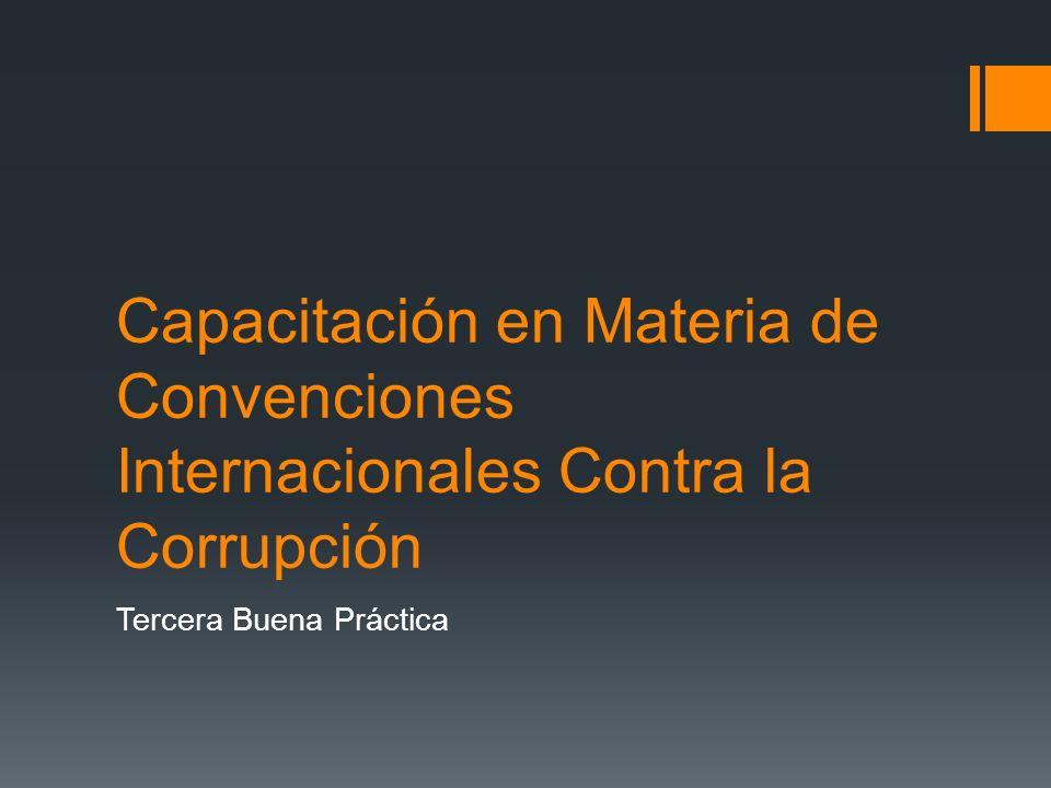Indicador de Cumplimiento de la Convención Interamericana –CICC- Cuarta Buena Práctica
