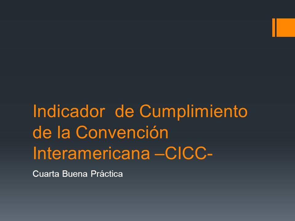 Indicador de Cumplimiento de la Convención de las Naciones Unidas –CNUCC- Quinta Buena Práctica