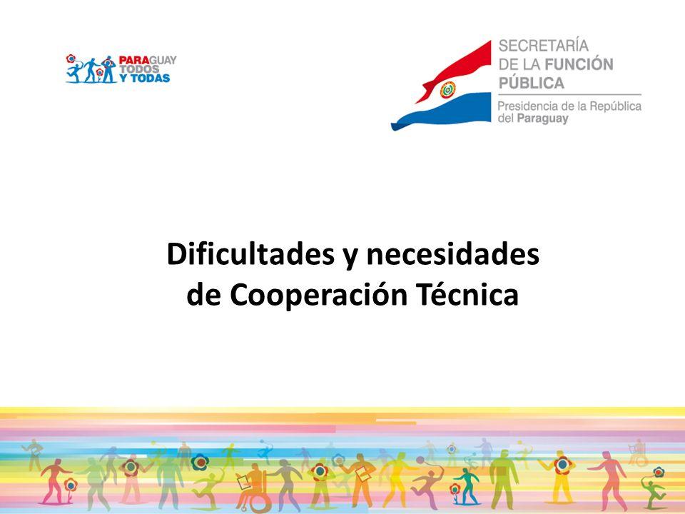 Dificultades y necesidades de Cooperación Técnica