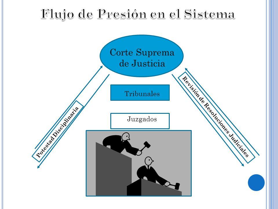 Corte Suprema de Justicia Tribunales Juzgados Potestad Disciplinaria Revisión de Resoluciones Judiciales