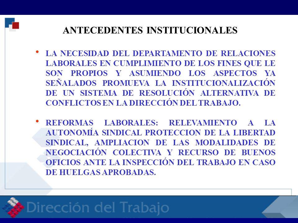 ANTECEDENTES INSTITUCIONALES LA NECESIDAD DEL DEPARTAMENTO DE RELACIONES LABORALES EN CUMPLIMIENTO DE LOS FINES QUE LE SON PROPIOS Y ASUMIENDO LOS ASP