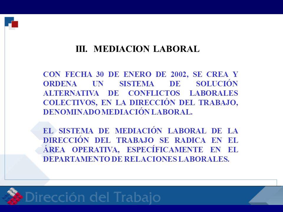 RELACIONES LABORALES RELACIONES LABORALES RELACI CON FECHA 30 DE ENERO DE 2002, SE CREA Y ORDENA UN SISTEMA DE SOLUCIÓN ALTERNATIVA DE CONFLICTOS LABO