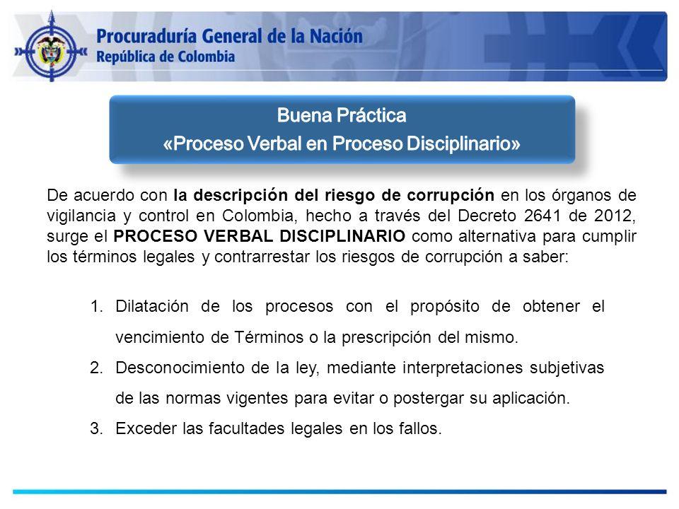 De acuerdo con la descripción del riesgo de corrupción en los órganos de vigilancia y control en Colombia, hecho a través del Decreto 2641 de 2012, su