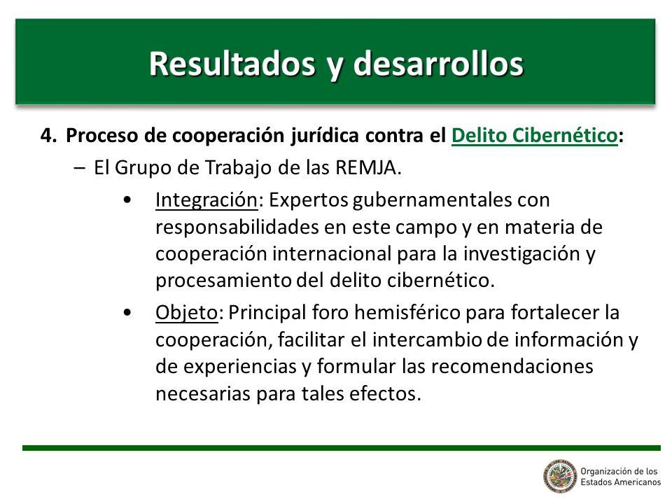 4. Proceso de cooperación jurídica contra el Delito Cibernético: –El Grupo de Trabajo de las REMJA.