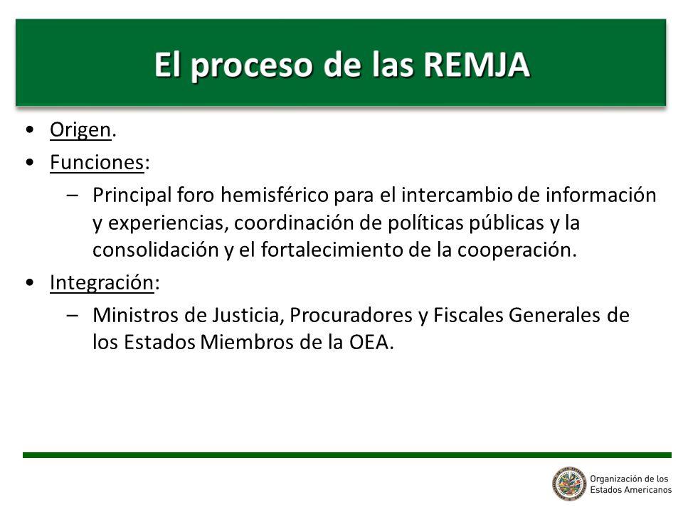 Origen. Funciones: –Principal foro hemisférico para el intercambio de información y experiencias, coordinación de políticas públicas y la consolidació