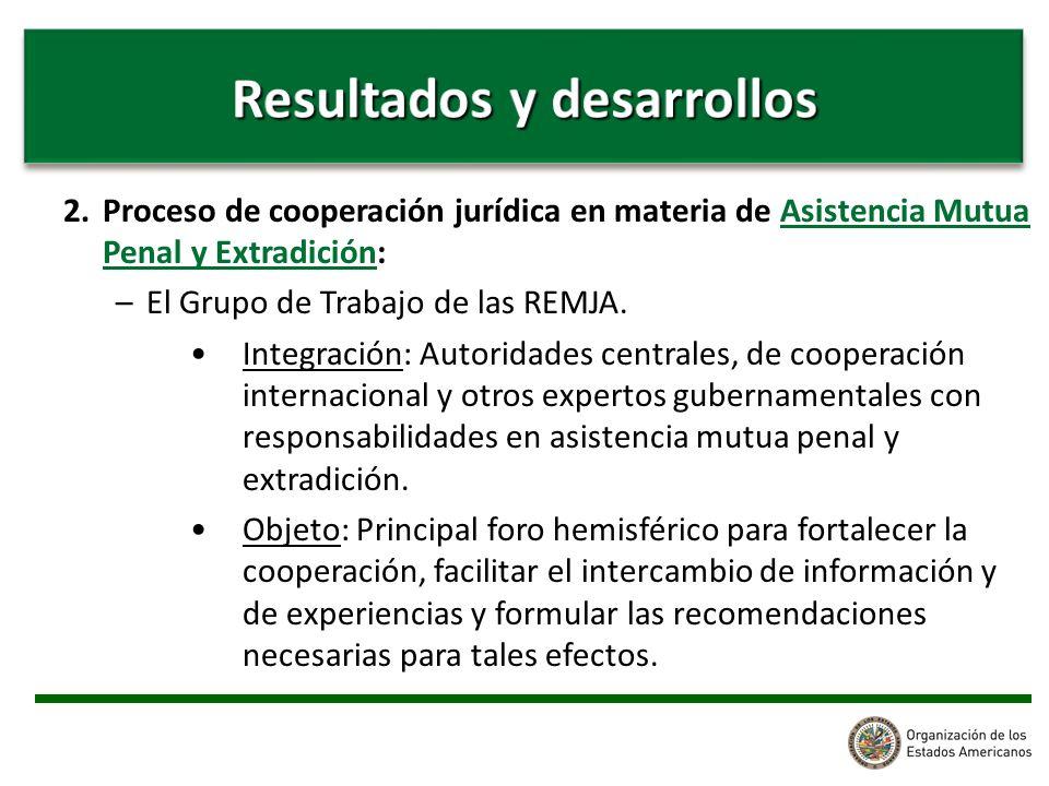 2. Proceso de cooperación jurídica en materia de Asistencia Mutua Penal y Extradición: –El Grupo de Trabajo de las REMJA. Integración: Autoridades cen