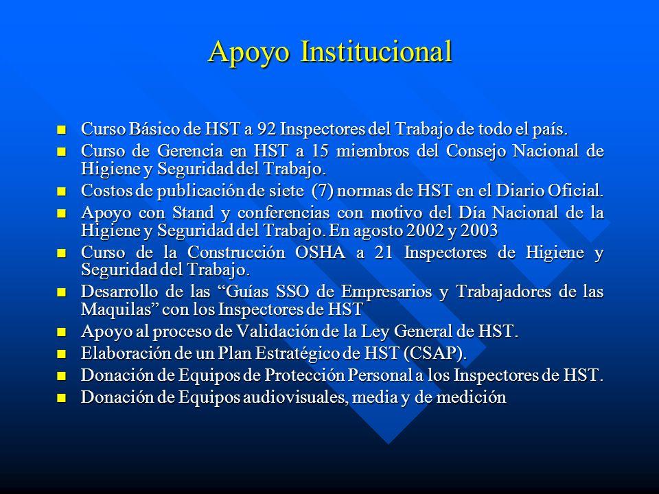Apoyo Institucional Curso Básico de HST a 92 Inspectores del Trabajo de todo el país.