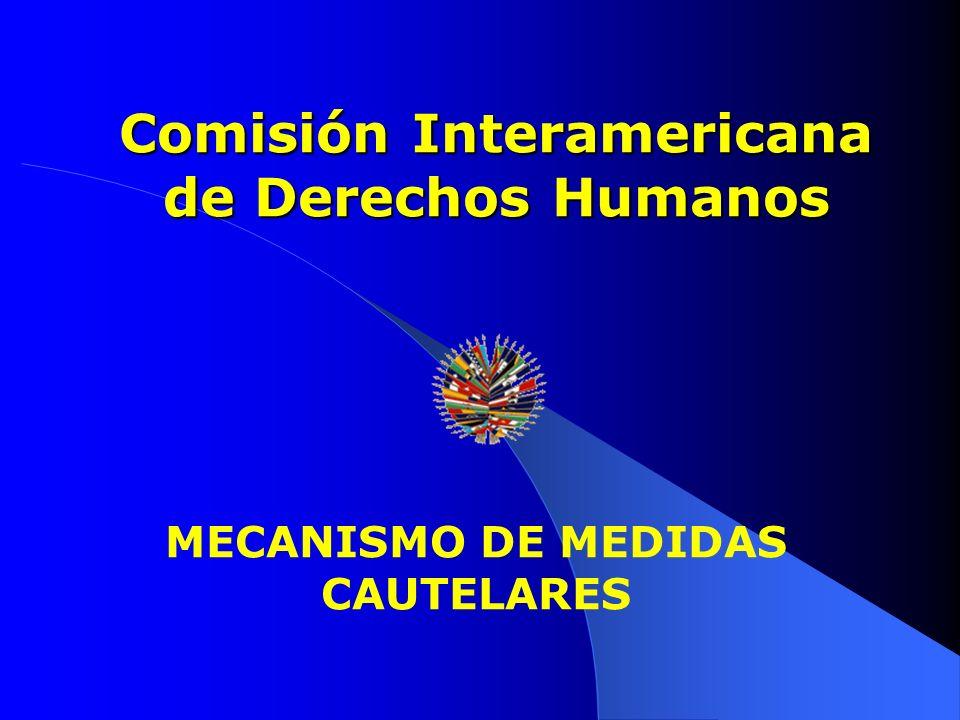 MECANISMO DE MEDIDAS CAUTELARES Comisión Interamericana de Derechos Humanos