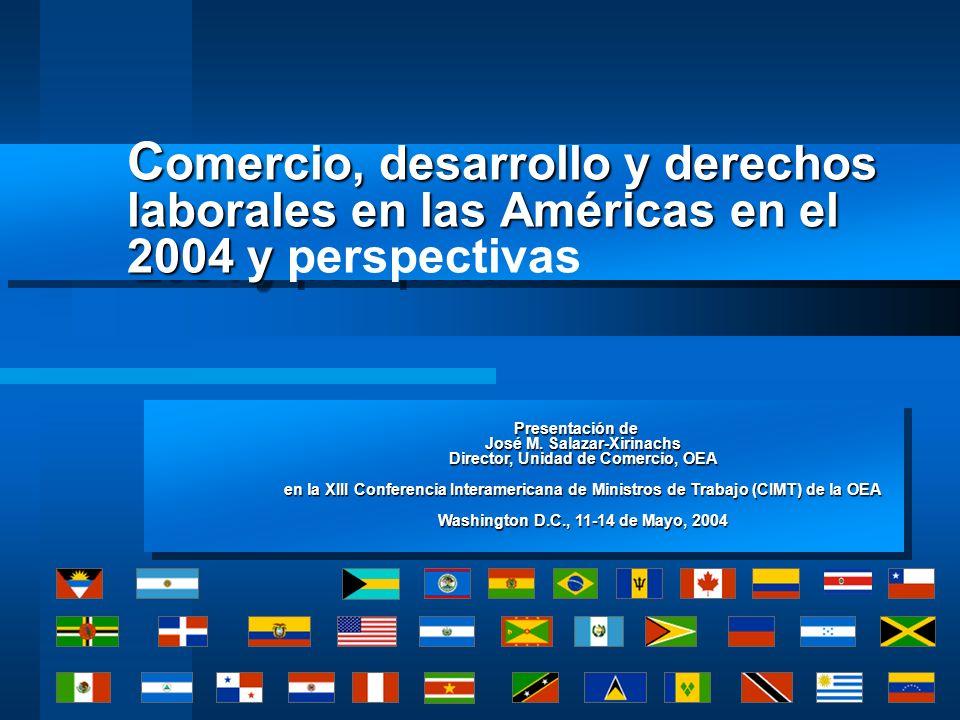 Cooperación en acuerdos bilaterales Ejercicios similares de cooperación se están realizando en paralelo y como parte de las negociaciones de acuerdos bilaterales: –EEUU-Centroamérica (CAFTA) –EEUU-República Dominicana –EEUU-Panamá –EEUU-Comunidad Andina