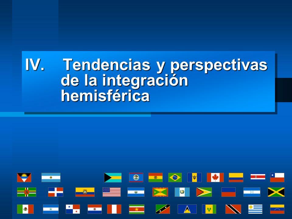 IV. Tendencias y perspectivas de la integración hemisférica