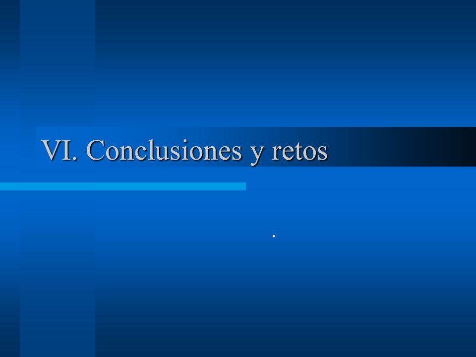 VI. Conclusiones y retos.
