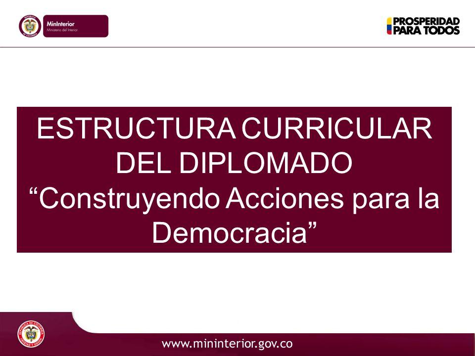Código ESTRUCTURA CURRICULAR DEL DIPLOMADO Construyendo Acciones para la Democracia