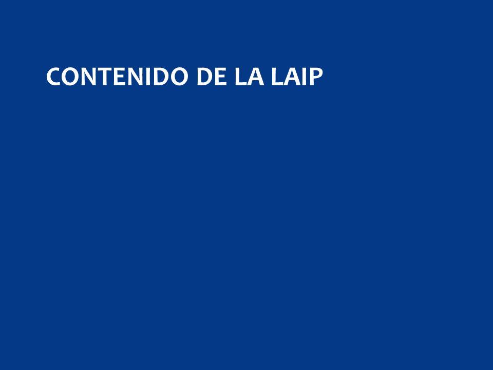 CONTENIDO DE LA LAIP