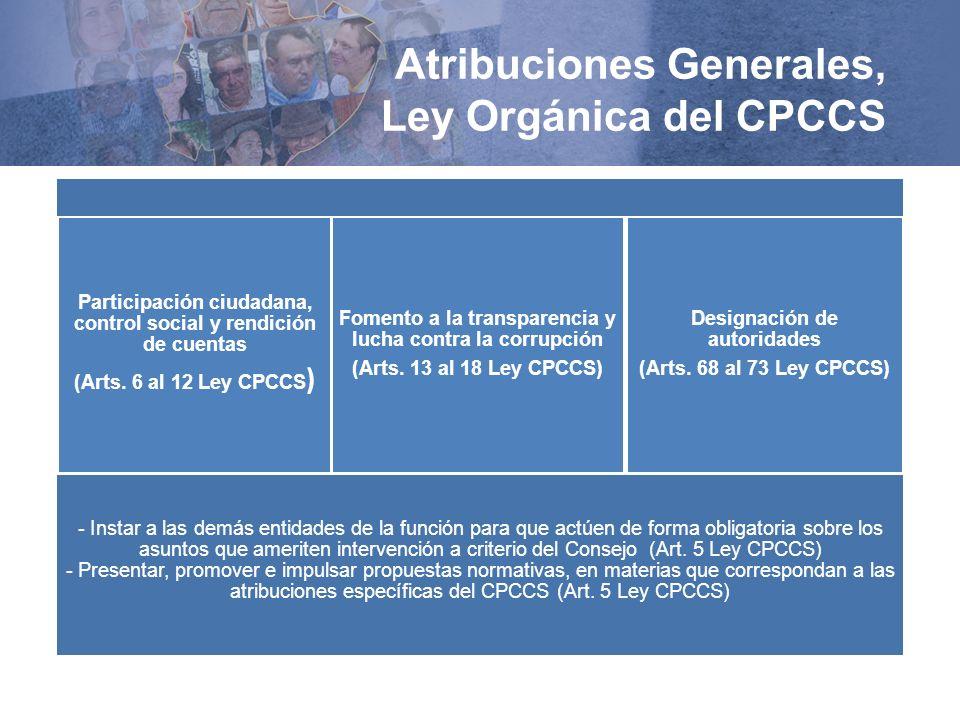 Atribuciones Generales, Ley Orgánica del CPCCS TEXTO SIMULADOTEXTO SIMULADOTEXTO SIMULADO TEXTO SIMULADO TEXTO SIMULADO TEXTO SIMULADO TEXTO SIMULADO