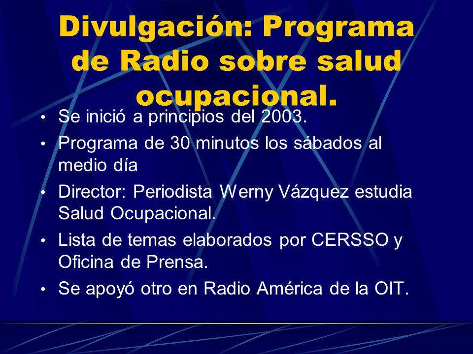 CAPACITACION Y FORMACIÓN Apoyo en capacitación a Honduras y República Dominicana. Envío de nuestros Manuales a los otros países del Proyecto.