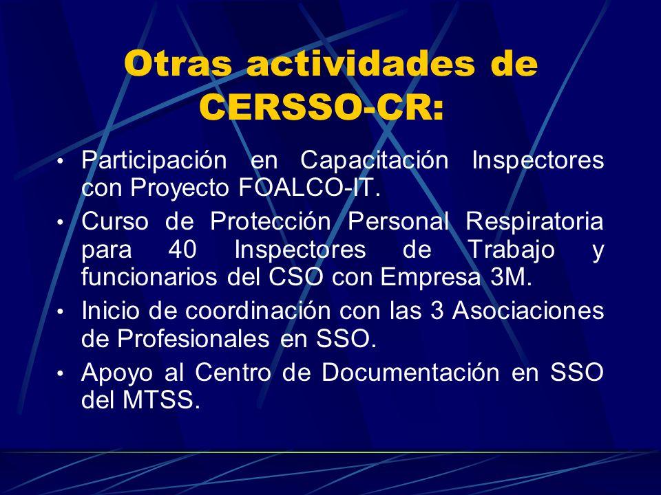 Divulgación: Programa de TV Salud y Trabajo. Director: Periodista Werny Vázquez. Director Técnico: Roberto Castro Lista de temas: CERSSO-Oficina de Pr