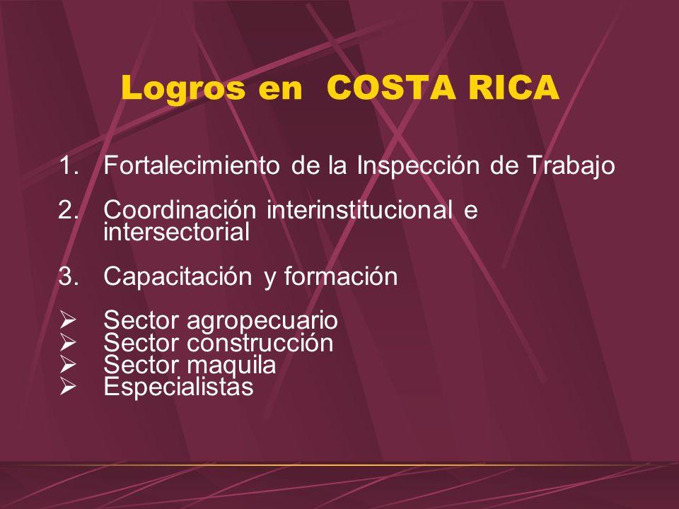 Áreas estratégicas de trabajo Cooperación con el Ministerio de Trabajo y sus instancias adscritas: CSO e Inspección. Capacitación del recurso humano E