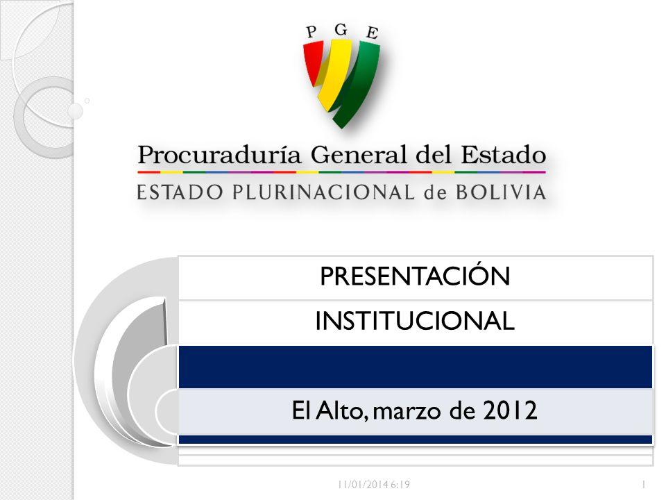 PRESENTACIÓN INSTITUCIONAL El Alto, marzo de 2012 11/01/2014 6:211